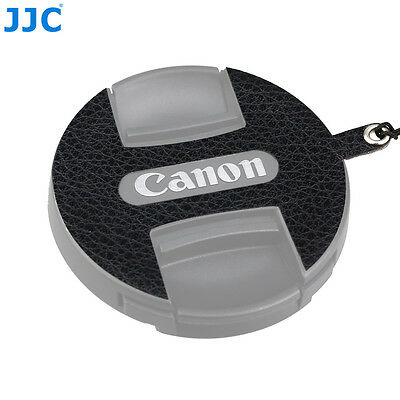 JJC Leather Stickup Lens Cap Keeper String Rope for Canon E-52II 52MM Lens Cap