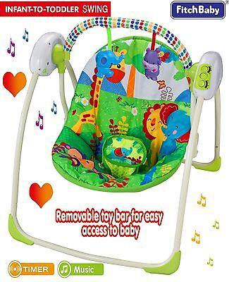 Baby Cosy Portable Baby Swing Bouncer Infant Musical Rocker UK Official