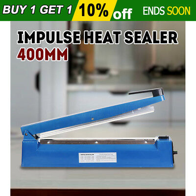 Brand New 400mm Impulse Heat Sealer Electric Sealing Machine Plastic Poly Bag OZ