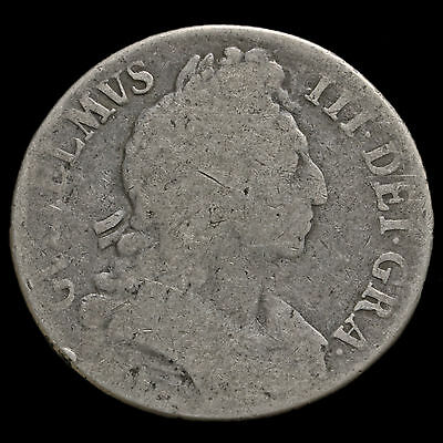 1696 William III Early Milled Silver Octavo Crown, First Bust