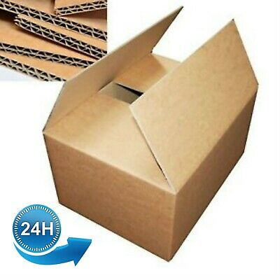New 20x Double Wall Cardboard House Moving Boxes - Removal Box Packing Packaging