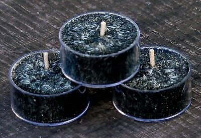 10pk Floral BLACK GARDENIAS Triple Scented CRYSTAL TEA LIGHT CANDLES 60 hrs/pack