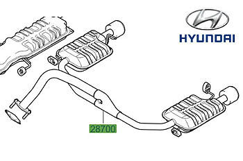 Genuine Hyundai Coupe Exhaust Rear Silencers - 287002C202