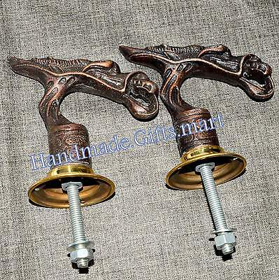 Dragon Door / Cupboard Handle Puller Set Animal Solid Metal Dragon Home Decor Ne