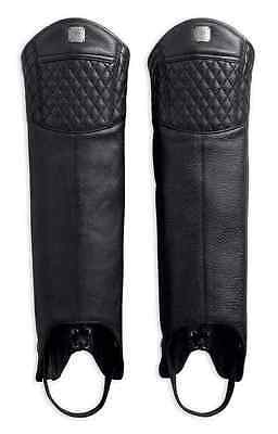 Harley Davidson HALF LEATHER CHAPS (LADIES) LARGE