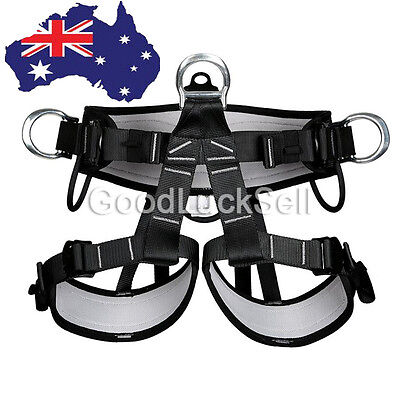 Pro Tree Carving Fall Protection Rock Climbing Equip Gear Rappelling Harness AUS