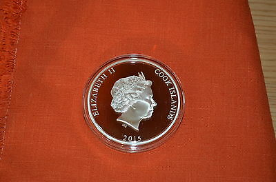 25 $ Dollar Mississippi Steamboat Mother of Pearl Cook Islands 5 oz Silber 2015
