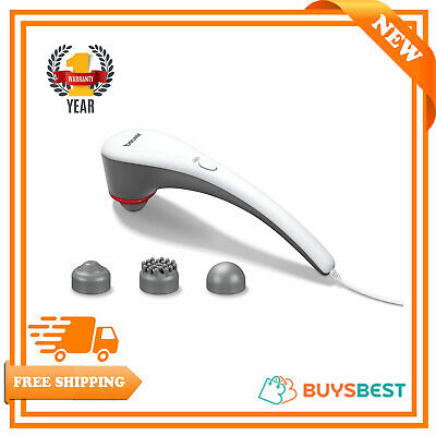 Beurer MG55 Tapping Massager with Heat Function Variable Intensity 3 Attachments