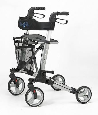 Patterson Medical 21539 Deluxe Lightweight Rollator Walker With Seat