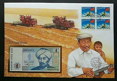 Kazakhstan Paddy Farming 1994 Musical Olympic Sport Games (banknote cover) *Rare