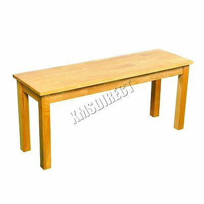 FoxHunter Solid Oak Furniture Dining Bench Wooden Seat Kitchen Table FH-OF04