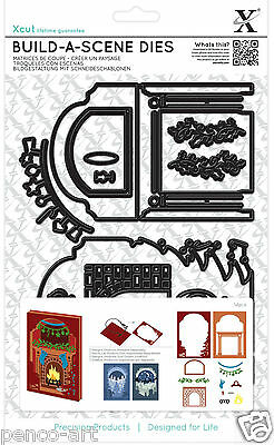 Shadow Box fire place Build a Scene die set Christmas fireplace Use Xcut, Sizzix