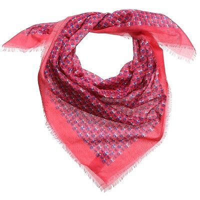 Fendi Kids Pink Cotton Ff Monster 85 Cm Scarf