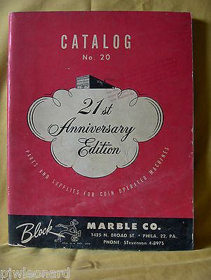 Block Marble Co. Catalog No. 20 - 1950