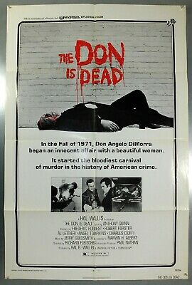 The Don Is Dead - Anthony Quinn - Original American One Sheet Movie Poster