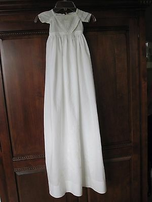 Antique Early Victorian Ayrshire Whitework Embroidered Christening Gown Baby Dol