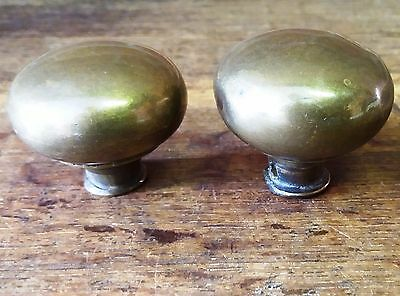 Architectural Antique - Two Old/Reclaimed Vintage Brass Door Handle/Knobs