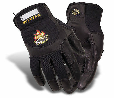 Setwear Pro-Leather Gloves BLK  New SHIPS FREE