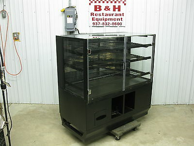 """48"""" Self Serve 2 Door Glass Bakery Donut Dry Display Show Case 4' Uncleaned"""