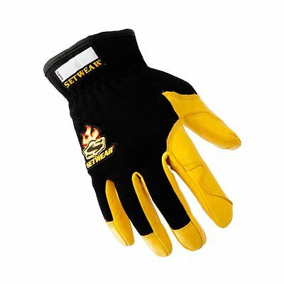 Setwear Pro-Leather Gloves Tan/Black  New SHIPS FREE