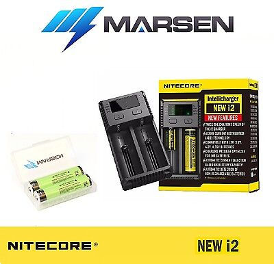 New Nitecore i2 charger with Panasonic NCR18650B Protected Lithium batteries