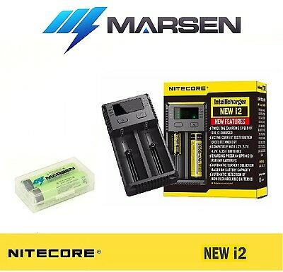 New Nitecore i2 charger with Panasonic NCR18650B High capacity Lithium batteries