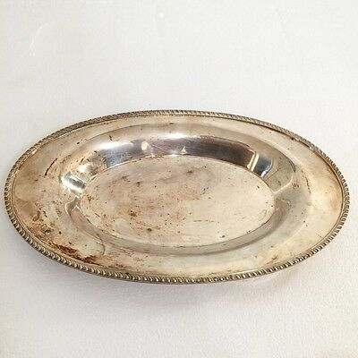 Vintage Poole Silver Co. E.P.C 12 Inch Oval Serving Tray #1004 Circa 1950's
