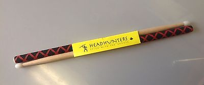 HeadHunters Nylon Tip Drumsticks Hickory Classics 5A Extreme Grip