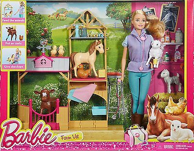 Barbie I Can Be Careers Farm Vet W/ Loads Of Accessories Doll Included Dhb71