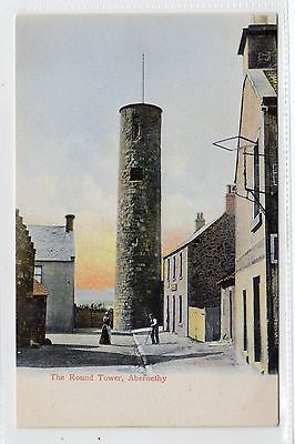 THE ROUND TOWER, ABERNETHY: Perthshire postcard (C6195).