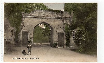 NORTH LODGE, WINTON CASTLE, PENCAITLAND: East Lothian postcard (C4885).