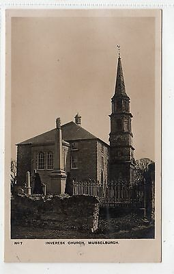 INVERESK CHURCH, MUSSELBURGH: East Lothian postcard (C4895)