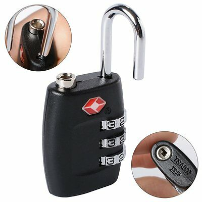 New Security Padlock [ 3-dial Combination ] For Travel Suitcase Luggage Bag