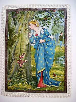 """Vintage Valentine From  """"Quiver of Love"""" Collection by """"Walter Crane"""" w/ Verse *"""