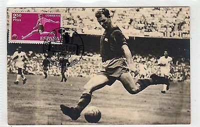 Spain: 1960 Football Postcard With Special Postmark (C6436).