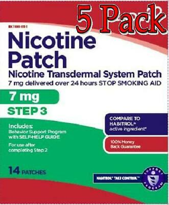 Leader Nicotine Patch, Step 3, 7mg, 14ct, 5 Pack 096295127904A2652