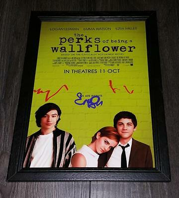 """The Perks Of Being A Wallflower Pp Signed Framed A4 12""""x8"""" Photo Poster"""
