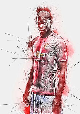 Paul Pogba - Manchester Utd 2016/17 - A1/A2/A3/A4 ART Poster / Photo Print