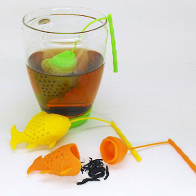 Cute Fish Tea Infuser Loose Leaf Strainer Herbal Spice Silicone Filter Diffuser