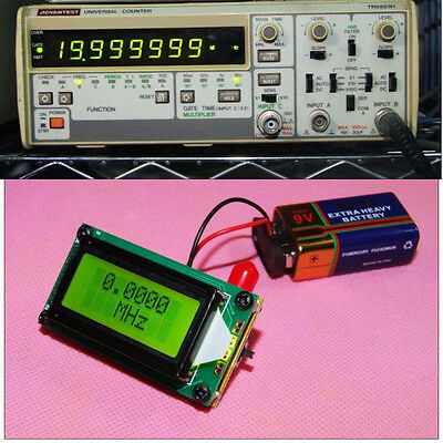 High Accuracy RF 1 to 500 MHz Frequency Counter Tester measurement For Ham Radio