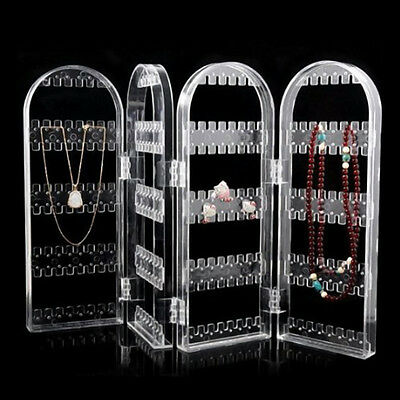 Plastic Stud Earring Jewelry Display Stand Holder Organizer Shelf Rack Foldable