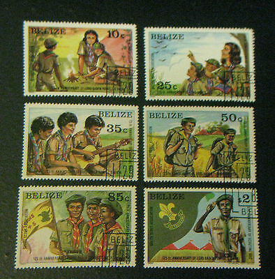 Belize Stamps 1982 sc#638-45 NM Scouts 15th Anniversary