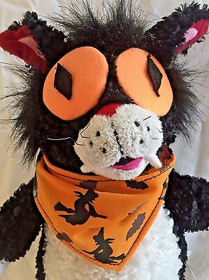 Black Cat Halloween Gemmy Singing Dancing Animated Crazy Fast Cat Pumpkin Hollow