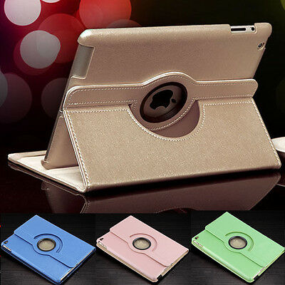 360 Rotating Stand Leather Smart Cover Case For Apple iPad 2/3/4/Mini/Air/Air 2