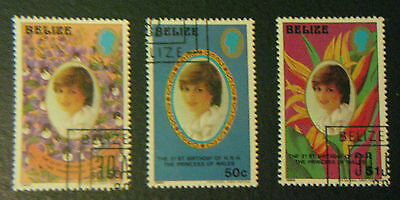 Belize Stamps Diana 21st Birthday of the Princess of Whales MNH