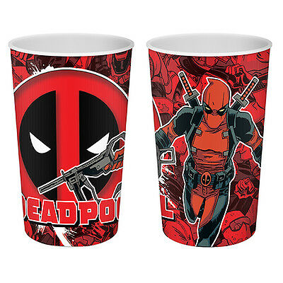 Set of Four DEADPOOL RED LENTICULAR TUMBLERS - Glass Cup Drink Xmas Gift