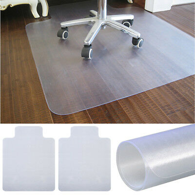 2x Hard Floor Protector PVC Chair Mats Home Office Frosted 900 x 1200MM