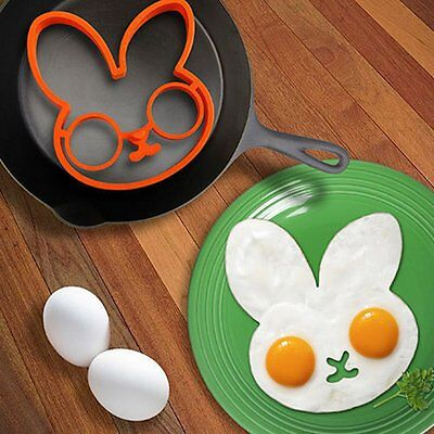 Breakfast Silicone Rabbit Fried Egg Mold Pancake Ring Shaper Cooking Tool NR