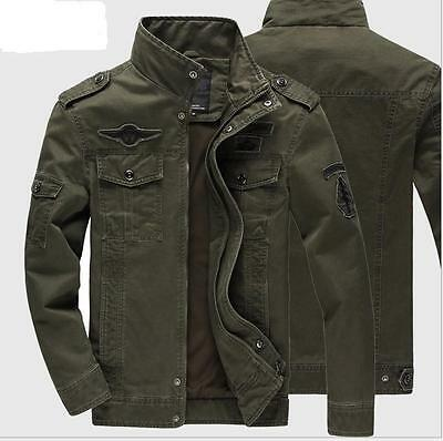 Men Winter Fur Lining Military Work Cotton Jacket Slim Fit Thicken Casual Coats