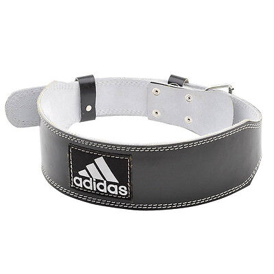 adidas Leather Weightlifting Belt Back Support, L/XL